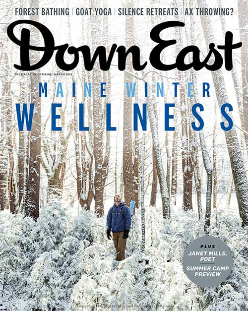 Down East magazine Forest Bathing cover